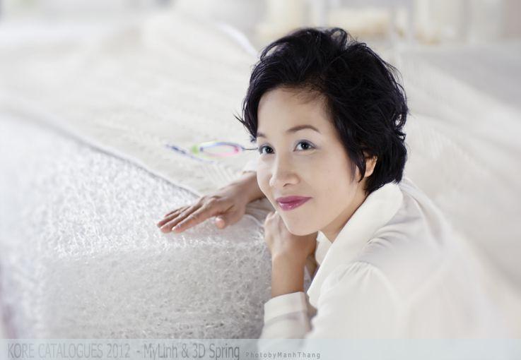 Đệm 3D do ca sĩ Mỹ Linh làm đại diện thương hiệu